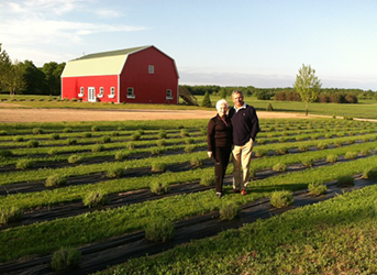 Photo of couple on a farm